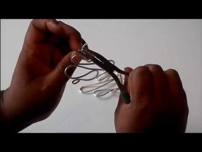 Tutorial Easy wire design earrings (aluminum) (crafting wire)