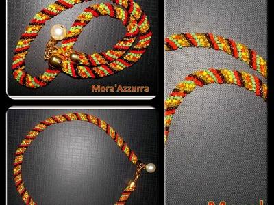 TUTORIAL:Spirale Crochet Tubolare con Perline primi passi.Spiral Crochet with Beads