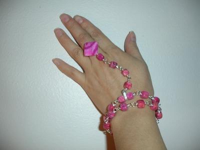 Wirewrapped Pompeii Bracelet, Handmade Jewelry by Mariel