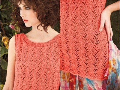 #25 Tie Back Tunic, Vogue Knitting Spring.Summer 2012