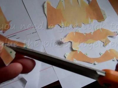 3 D paper craft prairie dog origami template  download Movie.wmv