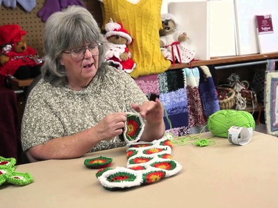 A Crocheted Hexagon Christmas Stocking : Holiday Crafts & Decorations