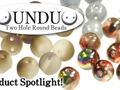 About RounDuo® Two Hole Round Beads