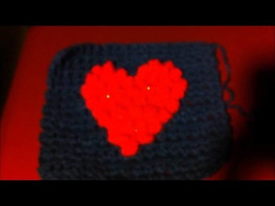Awesome crochet heart square