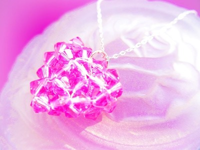 Beaded Crystal Heart Pendant Tutorial
