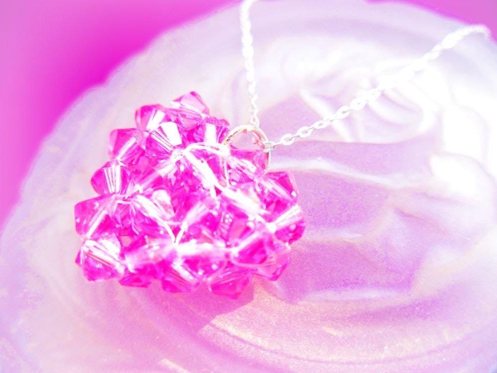 Beaded Crystal Heart Pendant Tutorial