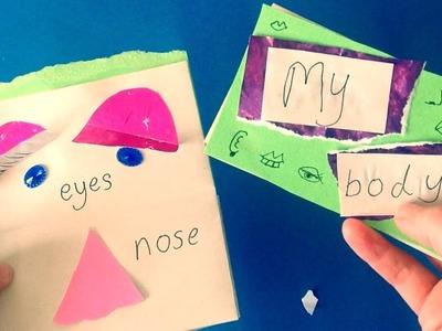 Children's Book Making Craft (My Body. Face Parts) Arts Activity Kindergarten