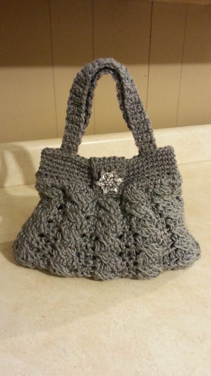 Crochet Arabel Cable Stitch Handbag Purse #TUTORIAL DIY crochet purse