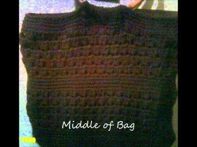 Crochet Beach Bag with lining