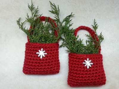 #Crochet Easy Bag-O-Day Crochet Christmas Ornament #TUTORIAL