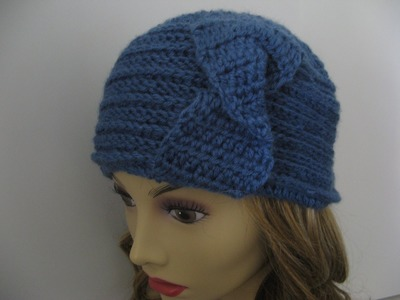 Crochet Horizontal Rib stitch headband and Hat