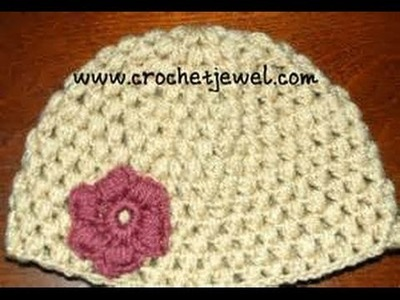Crochet Puff Stitch Hat (12 Month old-3 year old & 3-10 year old) Part I
