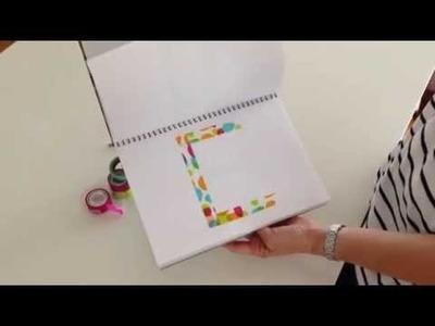 DIY Alphabet Flip Chart Tutorial