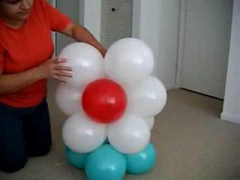 DIY: Balloon Flower Arch. Arco de Flores Com Baloes