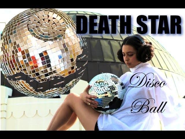 DIY DEATH STAR DISCO BALL