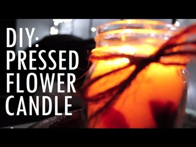 DIY | Dried Flower Candle (Perfect Christmas Gift Idea)