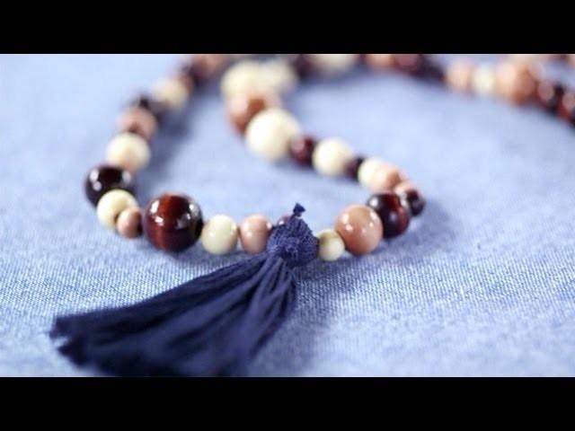 DIY Fashion | Beaded Fringe Necklace | Designer DIY