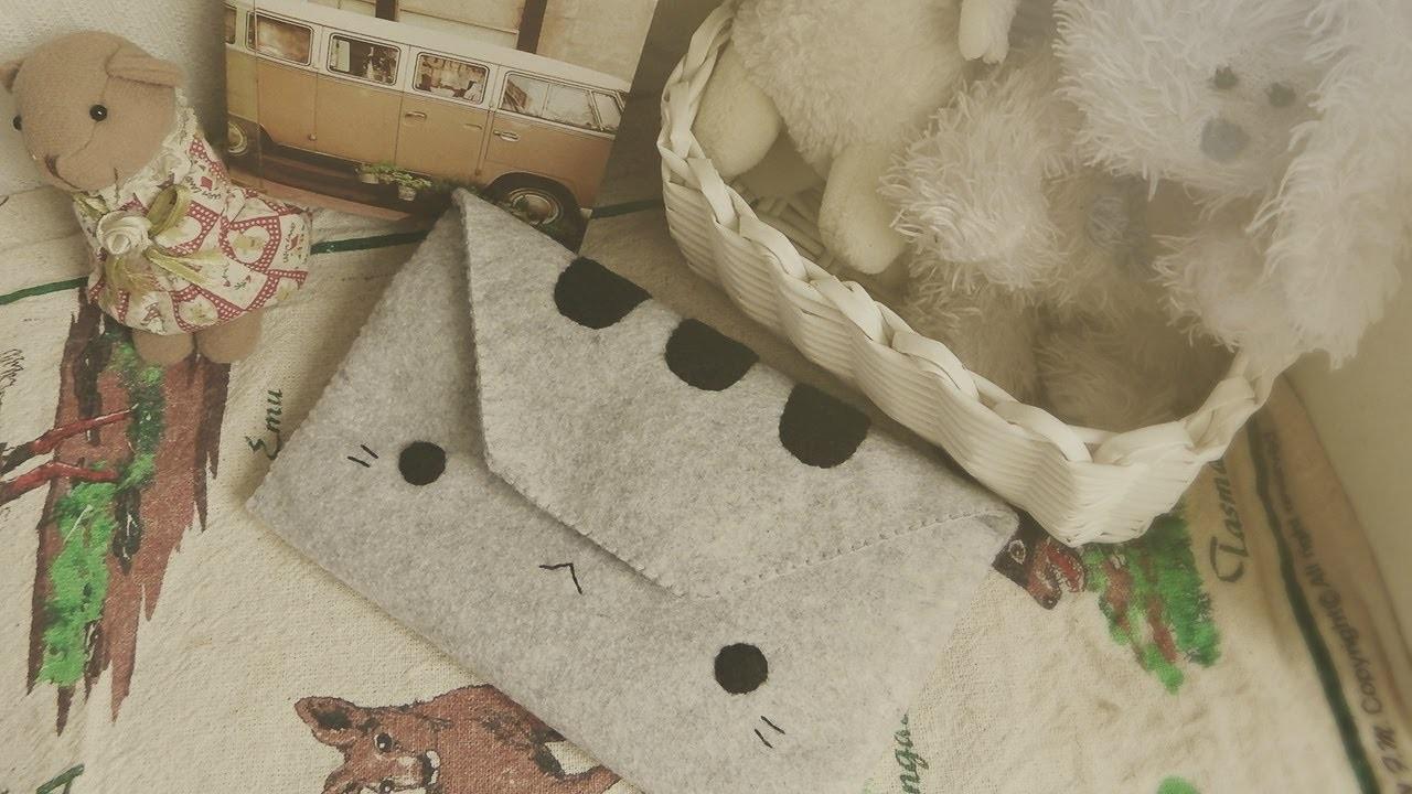 DIY FASHION: How To Sew A Pusheen Cat Wallet Tutorial
