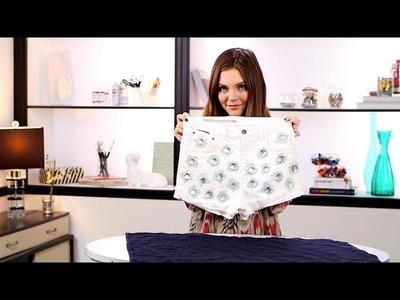 DIY Fashion | Rhinestone Jean Shorts | Designer DIY