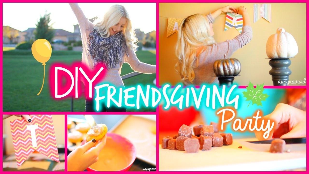 "DIY ""Friendsgiving"" Party! Food, Decor, & Outfits!| Aspyn Ovard"