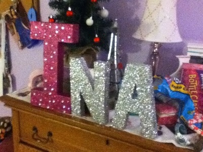 DIY- Glitter Letters For Your Room
