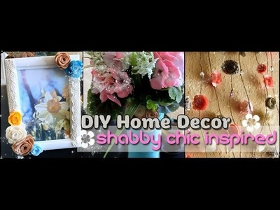 ✿ DIY Home Decor - Shabby Chic Inspired - For the Spring Season ✿