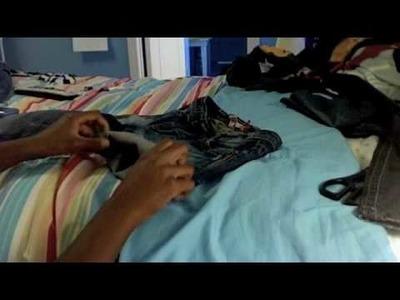 DIY: How to cut.make Daisy Dukes shorts?