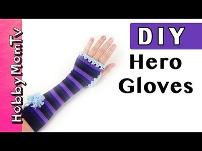 DIY How to Make SUPERHERO Power Gloves! HobbyKids Arm Warmers Tutorial by HobbyMomTV
