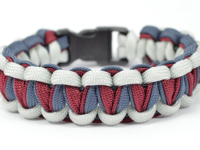 "DIY - Make the ""Twisted Cobra"" Paracord Survival Bracelet - BoredParacord.com"
