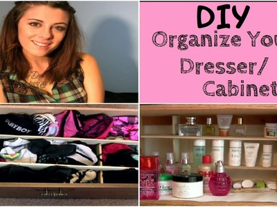 DIY Project: Easy Way To Organize Your Dresser. Cabinet!! | LikeWowLala