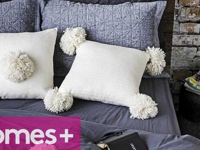DIY PROJECT: Pom pom cushion - homes+