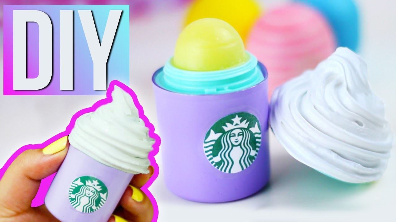 DIY STARBUCKS EOS - Make your own STARBUCKS Lip Balm!