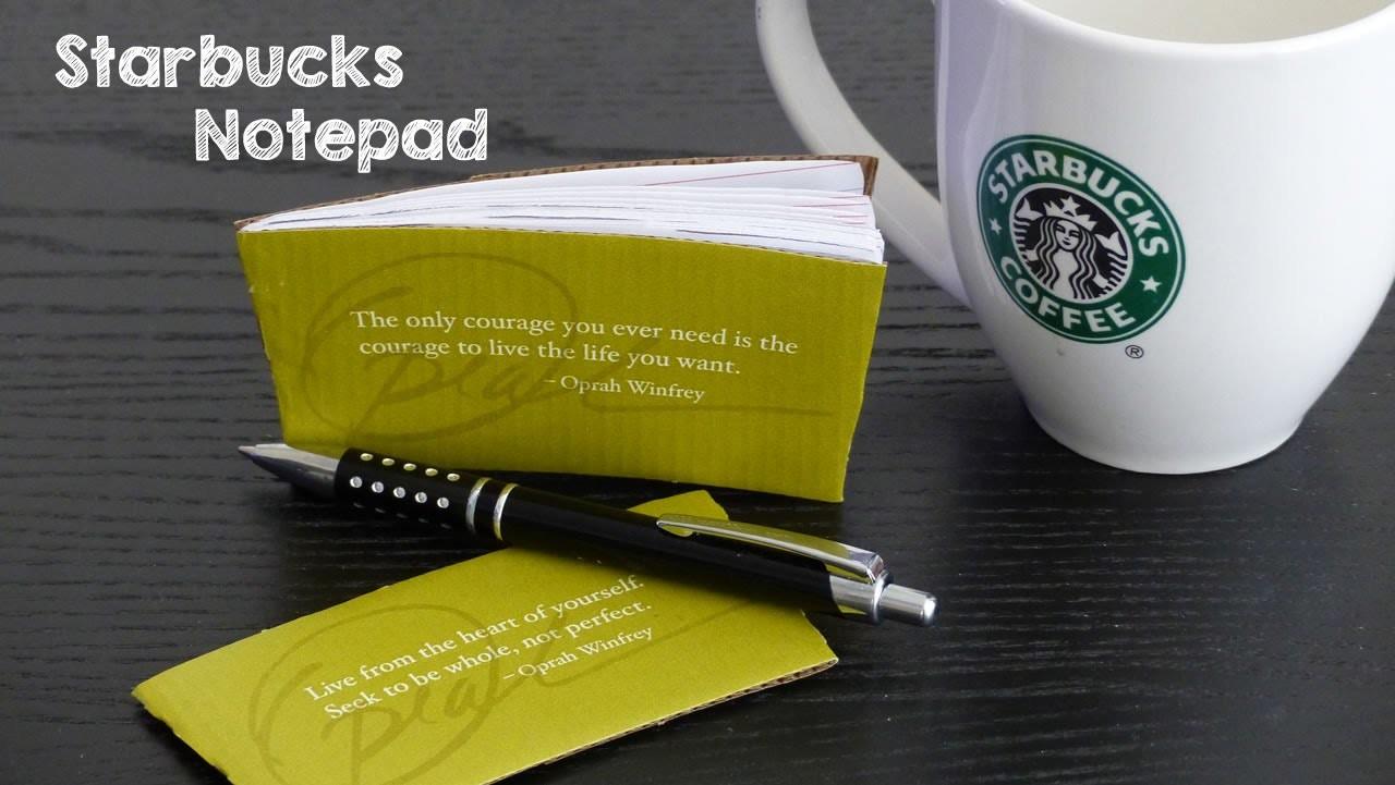 DIY Starbucks Mini Notebook   How to Make DIY Paper Notepads   DIY Gift Ideas