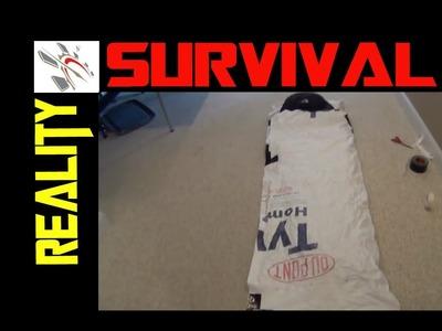 DIY Survival Gear -Tyvek Sleeping Bag Bivy