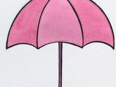 Draw a Cute Pink Umbrella - DIY Crafts - Guidecentral