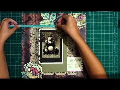 Dreaming pregnancy scrapbook layout process