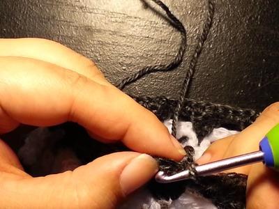 How to: Crochet skull beanie - pattern 2