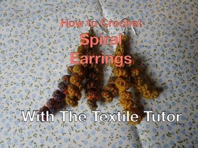 How to Crochet Spiral Earrings