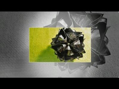 How to fold: Kusudama Blutenball