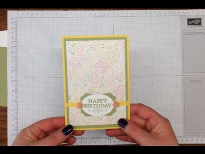 How to make a heat embossed and water coloured card using the Stampin' Up! Something Lacy stamp