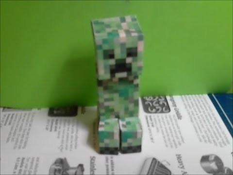 How to make a papercraft creeper !!