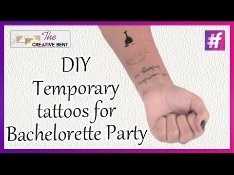 How to Make A Temporary Tattoos for Bachelorette Party   DIY   Live Creative