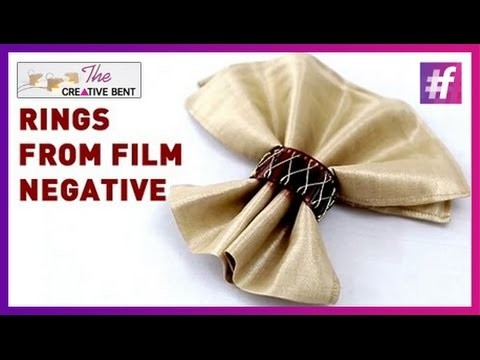How To Make Your Own Napkin Rings from Film Negative | DIY | Live Creative