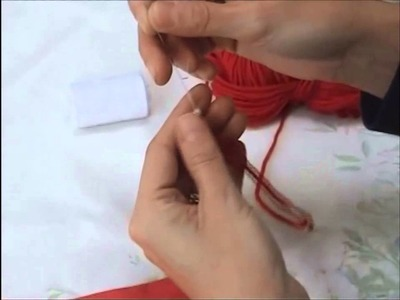 How to thread beads onto knitting
