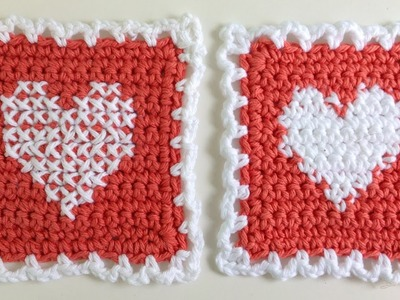 Instarsia Crochet vs. Cross Stitch Crochet - Left Handed Free Cross Stitch Pattern by Maggie Weldon
