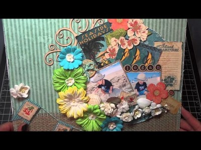 Island Adventure Scrapbook Layout and tutorial