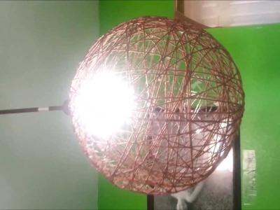 Lampara Colgante Con Hilo De Tejer  (String Knit Lamp )
