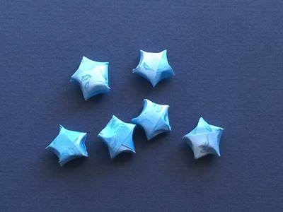 Lucky Star: How to make a paper Lucky Star - Easy Origami Instructions
