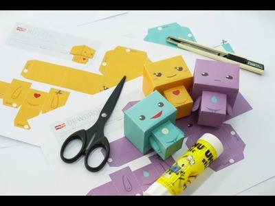 Making of Midori 3D Paper-craft