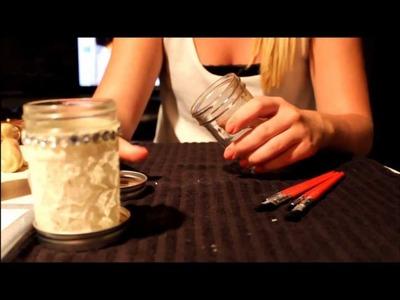 Mason Jar Candle Holder DIY